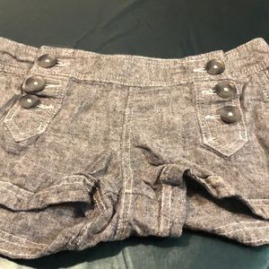 Express Front Button Gray shorts size 2